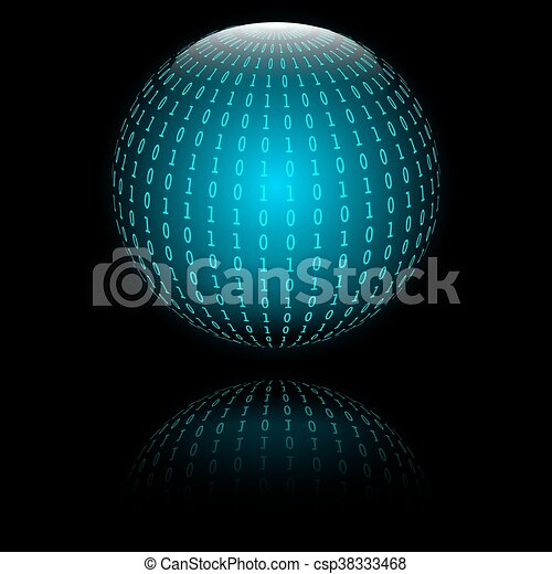 Binary code in sphere form - csp38333468