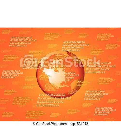 binary globe background - csp1531218