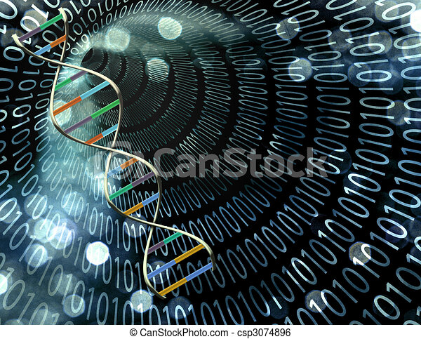 Binary tunnel and DNA Strand - csp3074896