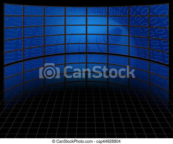 Binary Tunnel on Large Set of Screens - csp44928804
