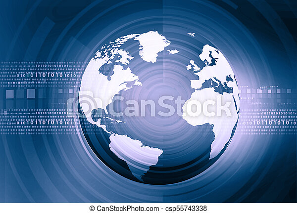 Binary world. Digital technology - csp55743338