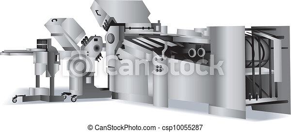 Una máquina plegable para la carpeta - csp10055287