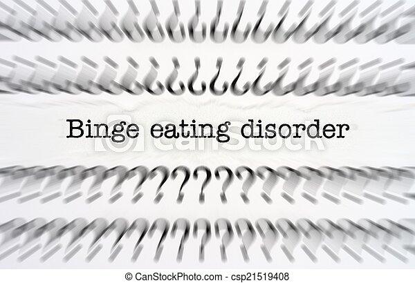 Binge eating disorder - csp21519408
