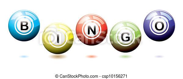 Bingo balls bounce - csp10156271
