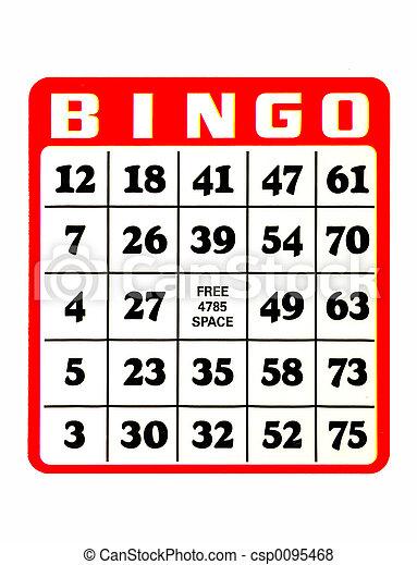Bingo Card - csp0095468