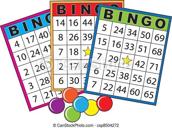 bingo cards three colorful bingo cards rh canstockphoto com free bingo clipart downloads free bingo border clipart