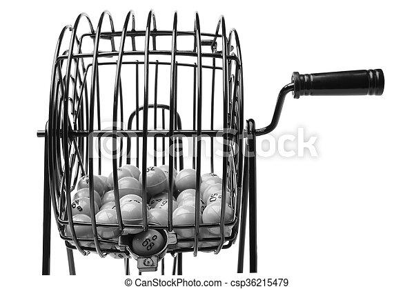 Bingo Game Cage - csp36215479