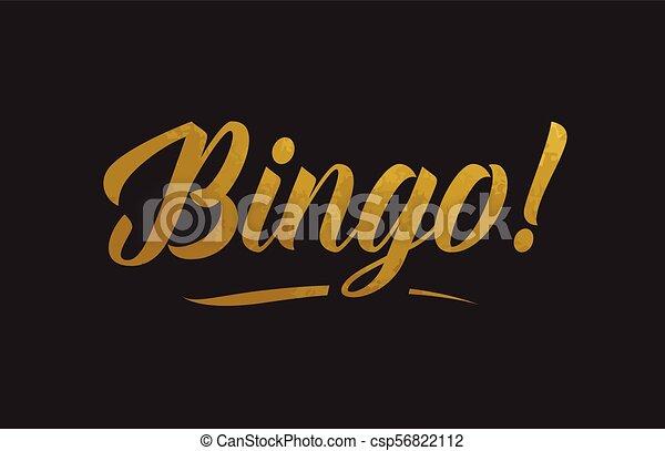 Bingo gold word text illustration typography - csp56822112