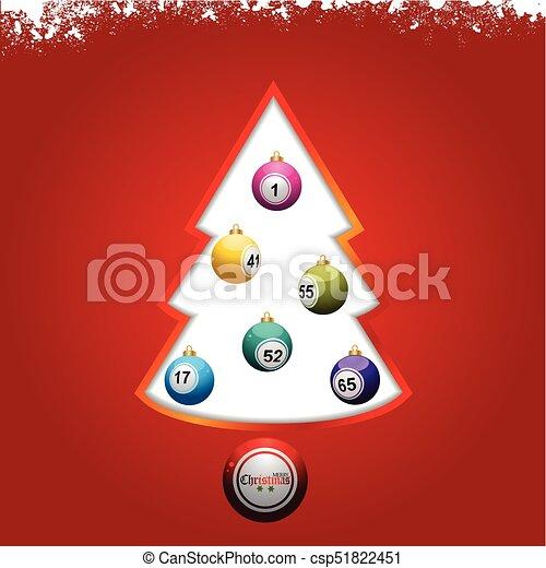 Lotto Weihnachten.Bingo Kugeln Lotto Baum Hintergrund Weihnachten Rotes