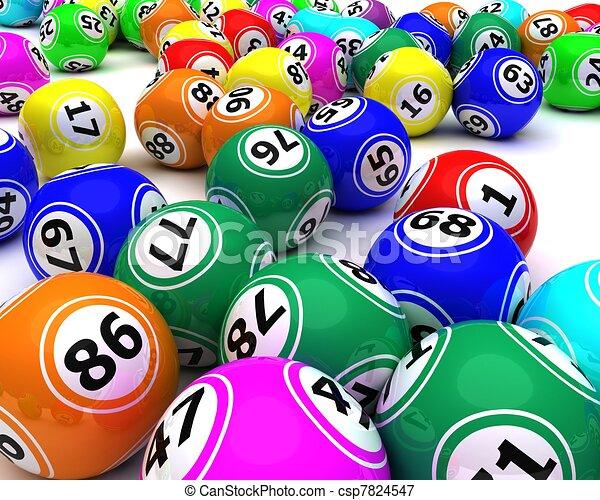 bingo, satz, kugeln, colouored - csp7824547