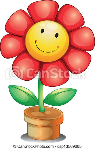 binnen, bloem pot - csp13569085