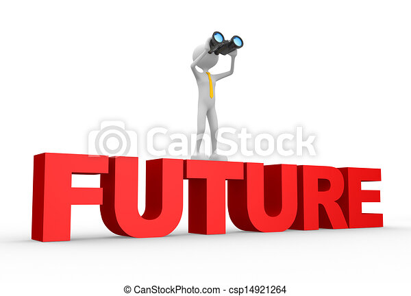binoculaire, mot, avenir - csp14921264