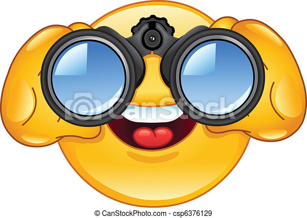 Binoculars emoticon - csp6376129