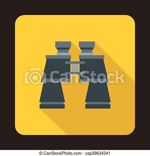 Binoculars icon, flat style - csp39634341