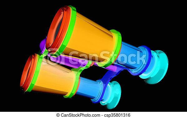 binoculars - csp35801316