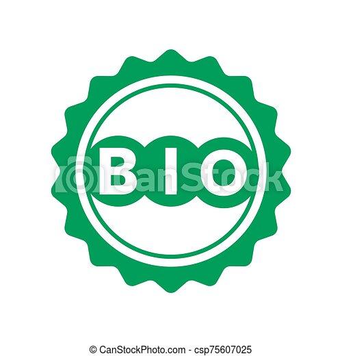 bio, タグ, 緑, ステッカー, ラベル, プロダクト, icons. - csp75607025