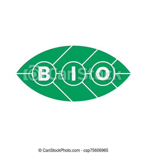 bio, タグ, 緑, ステッカー, ラベル, プロダクト, icons. - csp75606965