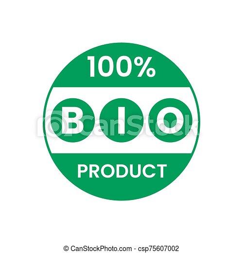 bio, タグ, 緑, ステッカー, ラベル, プロダクト, icons. - csp75607002
