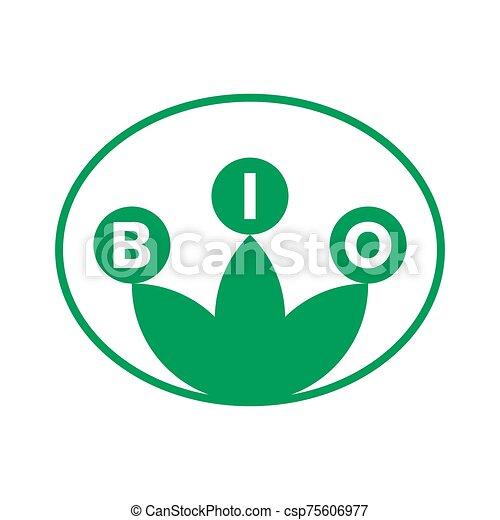 bio, タグ, 緑, ステッカー, ラベル, プロダクト, icons. - csp75606977