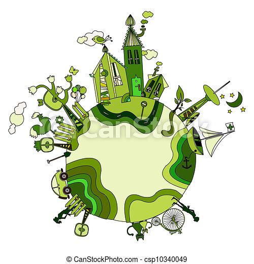 bio, 世界, 緑, のまわり - csp10340049
