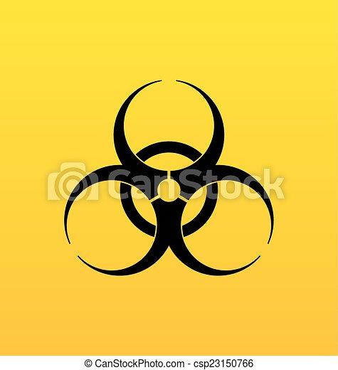 bio, 危険の印, シンボル, 危険, 警告 - csp23150766