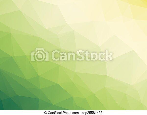 bio, 白, 緑, 黄色の背景 - csp25581433