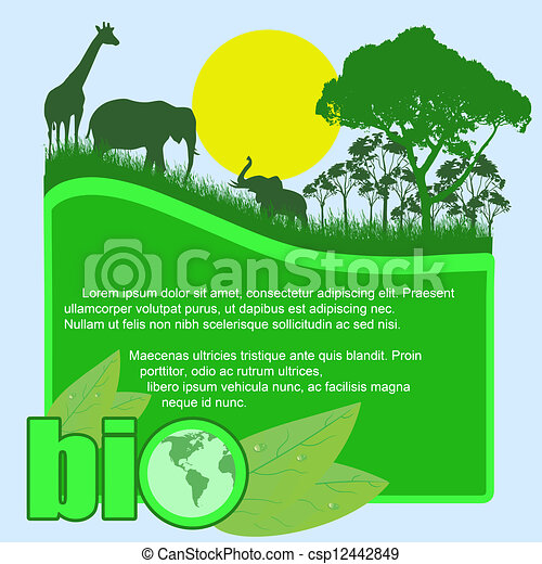 bio, 緑, ポスター - csp12442849