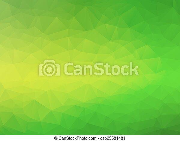 bio, 緑, 黄色の背景 - csp25581481