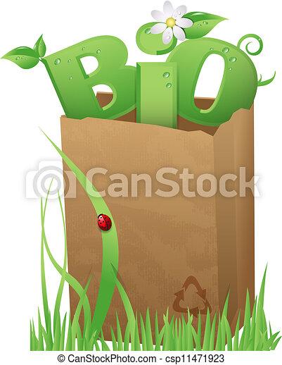bio, 袋 - csp11471923