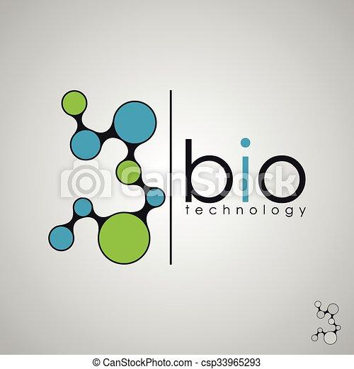 bio, biologia, concetto, dna, tecnologia, logotipo, disegno, logotipo - csp33965293