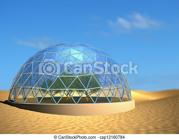 Bio dome stock illustration - Search EPS Clip Art ...