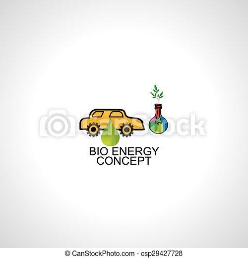 bio energy concept idea car - csp29427728