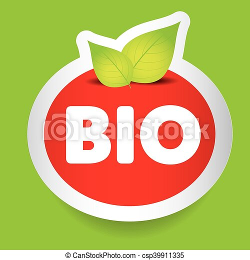 Bio food label vector - csp39911335