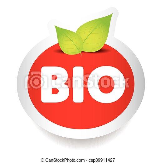 Bio food label vector - csp39911427