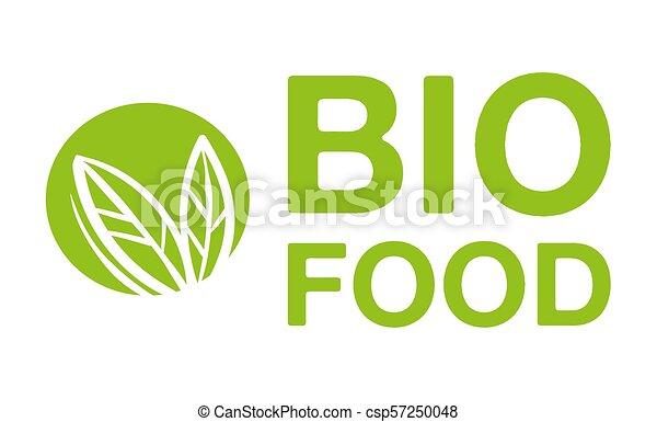 Bio food logo - csp57250048