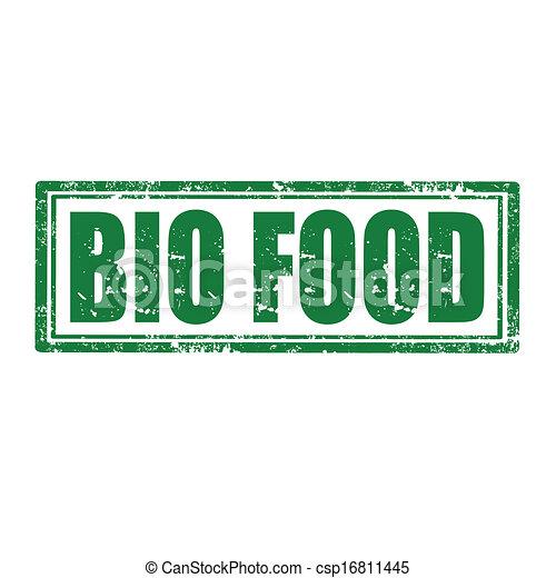 Bio Food-stamp - csp16811445