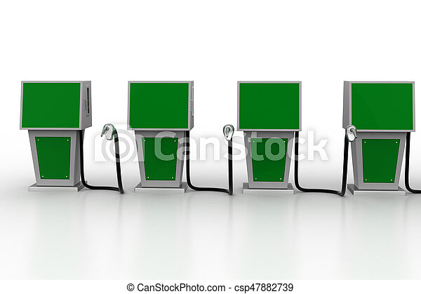 Bio fuel station - csp47882739