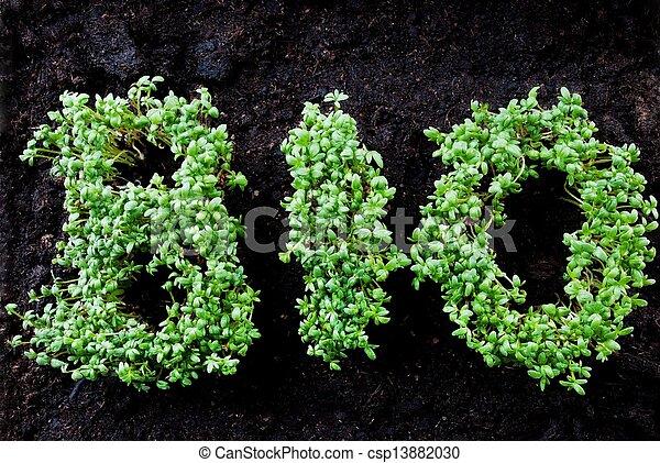 bio, geschreven, herbage - csp13882030