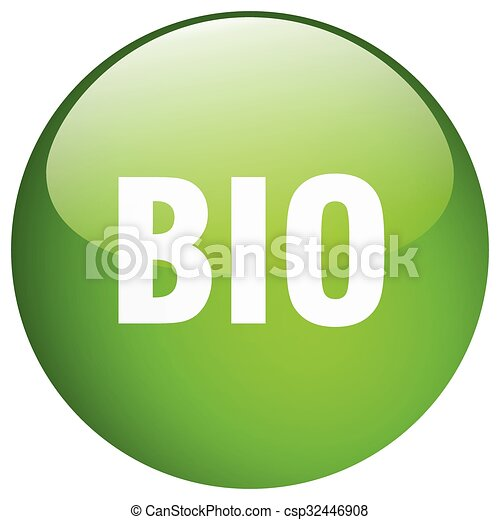 bio green round gel isolated push button - csp32446908