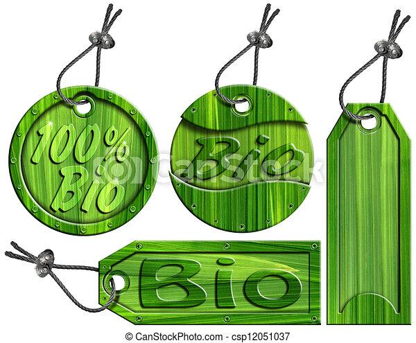 Bio Green Tags - 4 items - csp12051037
