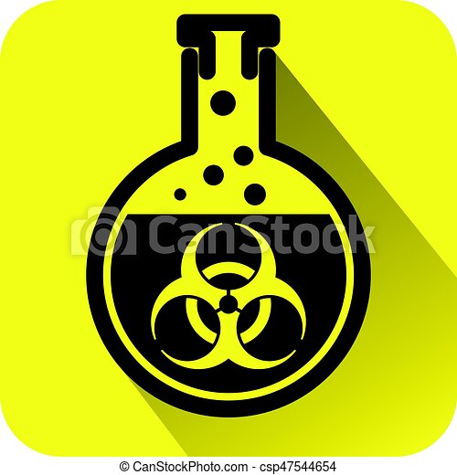 Bio hazard warning sign - csp47544654