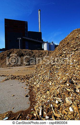bio power plant with storage of wooden fuel  - csp4960004