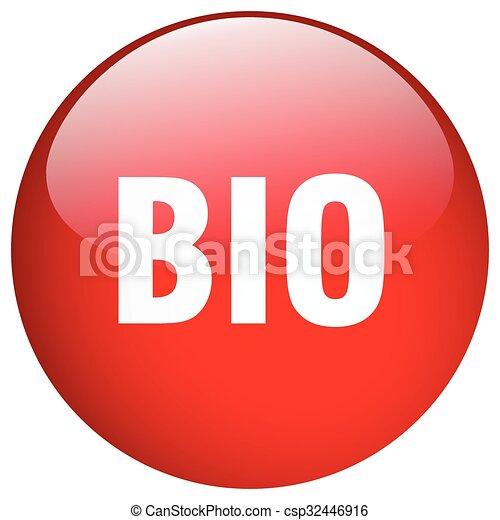 bio red round gel isolated push button - csp32446916