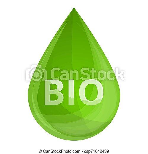 bio, style, goutte, carburant, icône, dessin animé - csp71642439