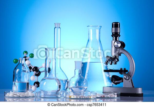 Biochemistry Laboratory and glass  - csp7653411