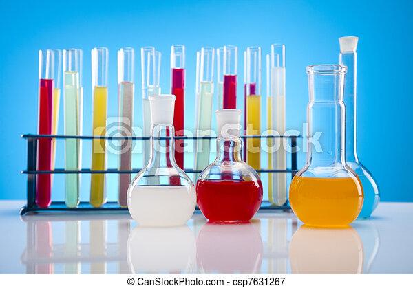 Biochemistry Laboratory and glass  - csp7631267