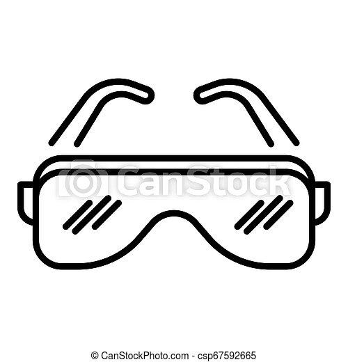 biodro, styl, szkic, chmiel, ikona, okulary - csp67592665