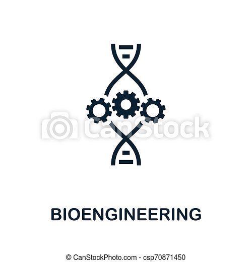 Bioengineering vector icon symbol. Creative sign from biotechnology icons collection. Filled flat Bioengineering icon for computer and mobile - csp70871450