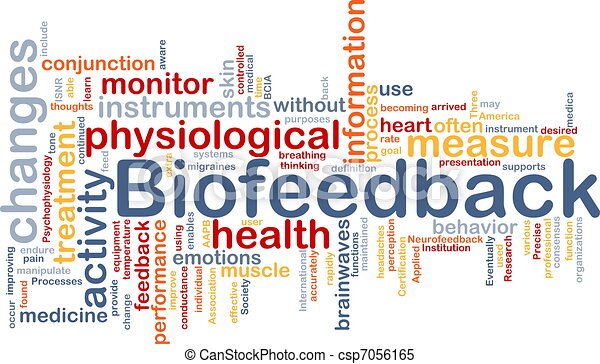 Biofeedback background concept - csp7056165