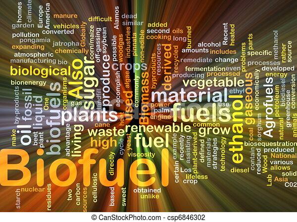 Biofuel fuel background concept glowing - csp6846302